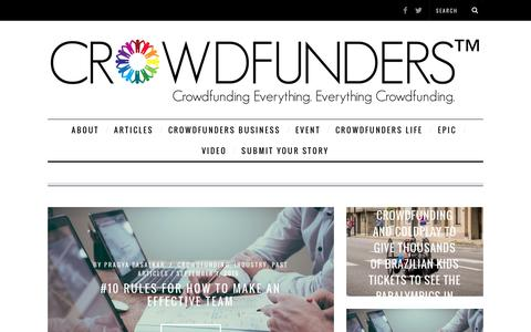 Screenshot of Press Page coassets.com - Everything Crowdfunding. Crowdfunding Everything. - captured Sept. 4, 2016