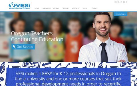 Screenshot of Home Page oregonteacherscontinuingeducation.com - Continuing Education for Teachers in Oregon - How Teachers Recertify - captured June 18, 2016