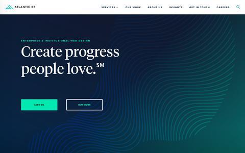Screenshot of Home Page atlanticbt.com - Atlantic BT - Raleigh Web Design & Software Development - captured July 23, 2019
