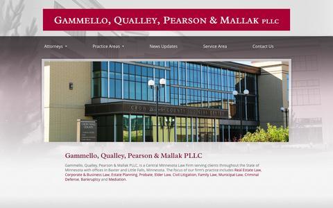 Screenshot of Home Page gqlaw.net - Brainerd Law Firm | Minnesota Legal Services | Brainerd Attorney - captured Oct. 2, 2014
