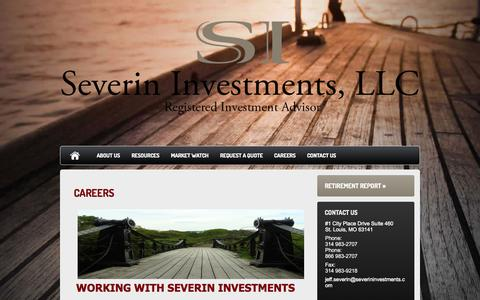 Screenshot of Jobs Page severininvestments.com - Careers : Severin Investments, LLC - captured Oct. 7, 2014