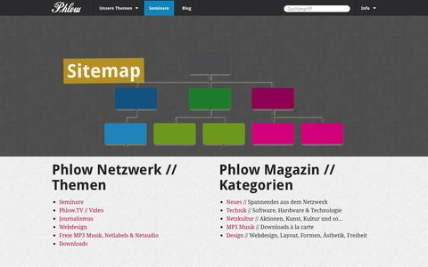 Screenshot of Site Map Page phlow.de - Sitemap - captured Sept. 19, 2014