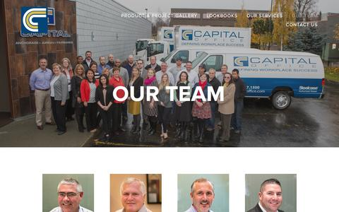 Screenshot of Team Page capital-office.com - Our Team — Capital Office - captured May 14, 2017