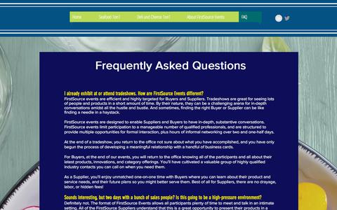 Screenshot of FAQ Page firstsourceevents.com - firstsource | FAQ - captured Aug. 14, 2018