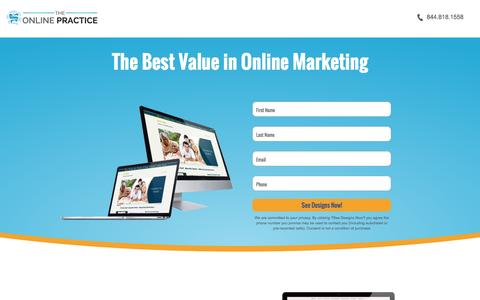 Screenshot of Landing Page theonlinepractice.com - The Best Value In Online Marketing | The Online Practice - captured Feb. 11, 2016