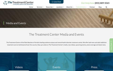 Screenshot of Press Page thetreatmentcenter.com - The Treatment Center Media and Events Calendar - captured June 15, 2017