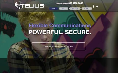 Screenshot of Home Page telius.uk - telius-uk - captured Dec. 5, 2015