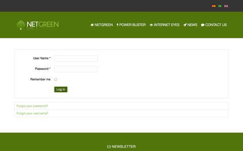 Screenshot of Login Page netgreen.com.br - NETGREEN - Energia Solar Eficiente e Segurança VSaaS - NetGreen - captured Oct. 7, 2014