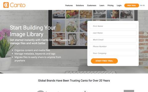 Signup - Canto - The Leader in Digital Asset Management Solutions
