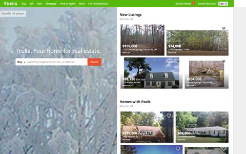 Screenshot of Home Page trulia.com - Trulia: Real Estate Listings, Homes For Sale, Housing Data - captured Dec. 11, 2015