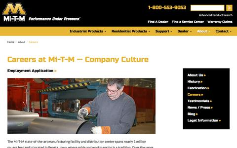 Screenshot of Jobs Page mitm.com - Careers | Mi-T-M Corporation - captured Oct. 18, 2017