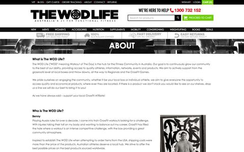 Screenshot of About Page thewodlife.com.au - ABOUT| The WOD Life - captured Jan. 12, 2016