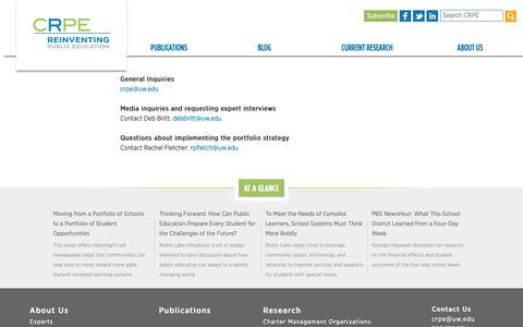 Screenshot of Contact Page crpe.org - Contact us | Center on Reinventing Public Education - captured Nov. 10, 2018