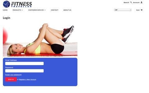 Screenshot of Login Page fitnesstraveller.com - Account | Fitness Traveller - captured Oct. 29, 2014