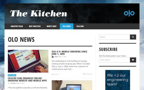 Screenshot of Press Page olo.com - Olo News | The Kitchen | Olo - Part 4 - captured Oct. 18, 2018