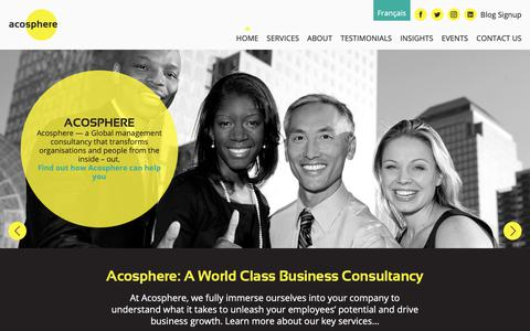Screenshot of Home Page acosphere.co.uk - Acosphere | Home - captured Dec. 17, 2018