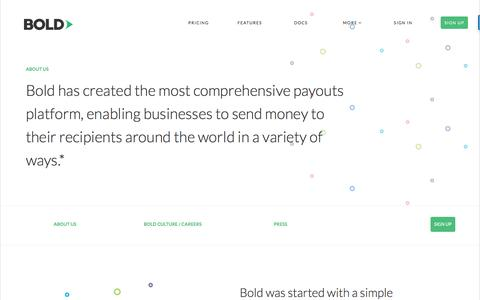Screenshot of About Page gobold.com - About Us - captured July 3, 2016