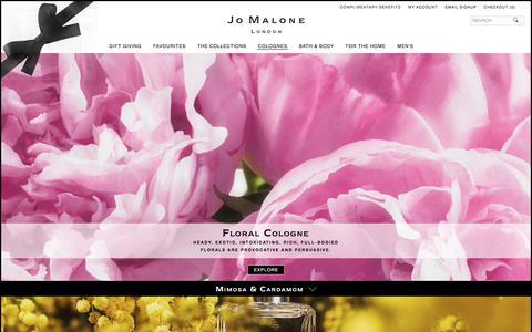 Screenshot of jomalone.co.uk - Floral | Jo Malone London - captured March 31, 2017