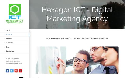 Screenshot of About Page hexagonict.com - About Us - Hexagon ICT - captured May 19, 2017