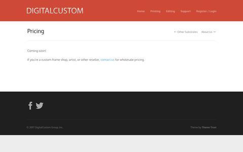 Screenshot of Pricing Page digitalcustom.com - Pricing | DigitalCustom - captured Jan. 27, 2018
