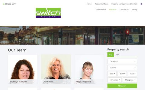 Screenshot of Team Page switchrealty.com.au - Switch Realty - Our Team - captured Sept. 21, 2018