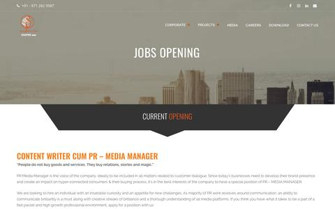Screenshot of Jobs Page esspeegroup.com - Jobs Opening - Esspee Group - captured Dec. 7, 2018