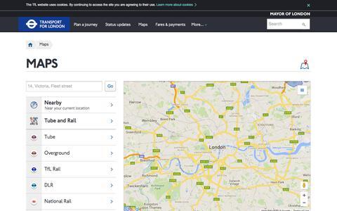 Screenshot of Maps & Directions Page tfl.gov.uk captured Dec. 3, 2015