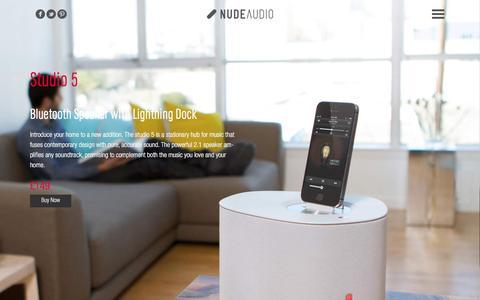 Screenshot of nudeaudio.com - NudeAudio | Studio 5 Lightning Speaker - captured March 29, 2016