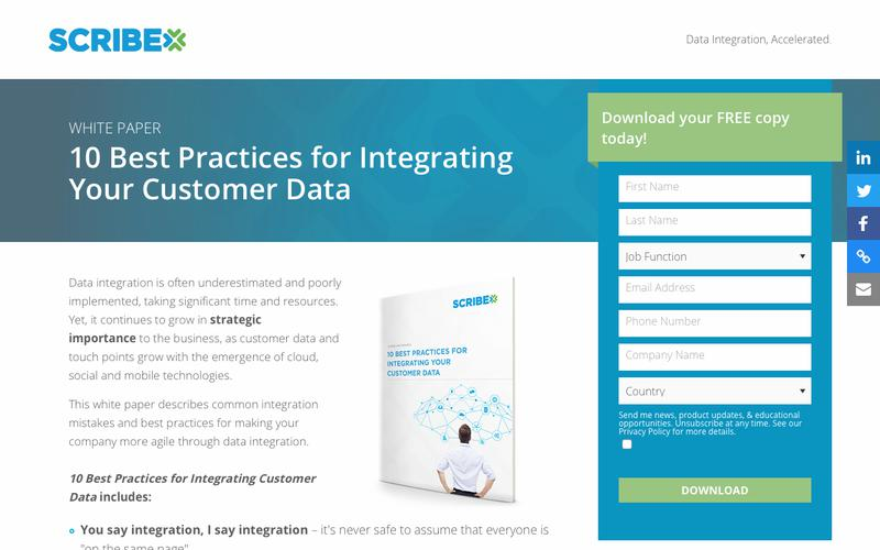 White Paper: 10 Best Practices for Integrating Your Customer Data | Scribe Software