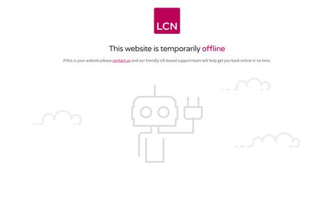 This website is temporarily offline - LCN.com