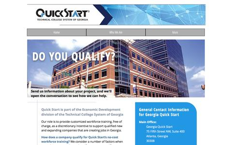 Screenshot of Contact Page georgiaquickstart.org - Georgia Quick Start | Do You Qualify? - captured May 17, 2017