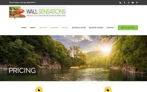 Screenshot of Pricing Page wallsensations.com - Pricing – Wall Sensations - captured Oct. 19, 2017
