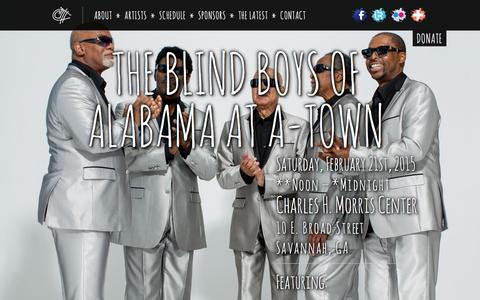 Screenshot of Home Page a-towngetdown.com - The 5th Annual A-Town Get Down 2015   February 21, 2015 - captured Dec. 16, 2015