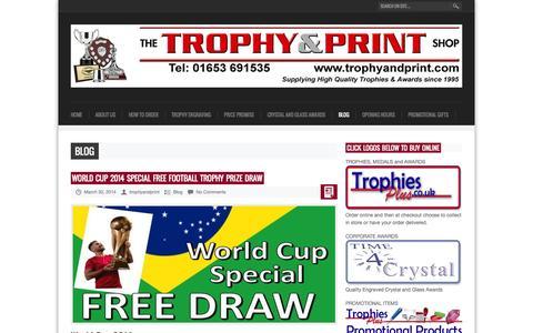 Screenshot of Blog trophyandprint.com - Trophy And Print Shop Blog - captured Oct. 1, 2014