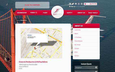 Screenshot of Contact Page jetsuite.com - Contact us | JetSuite - captured June 16, 2015