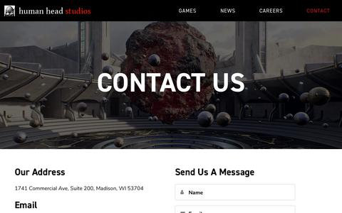 Screenshot of Contact Page humanhead.com - Contact Us - Human Head - captured Sept. 30, 2018