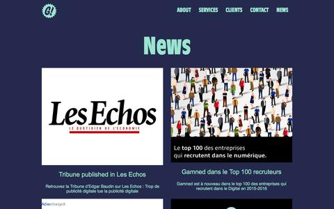 Screenshot of Press Page gamned.com - Gamned! Programmatic Advertising - captured Jan. 16, 2016