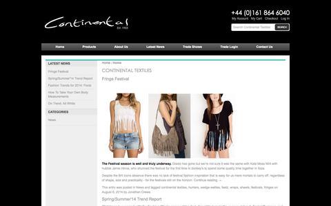 Screenshot of Blog continentaltextiles.co.uk - Continental Textiles - captured Nov. 1, 2014