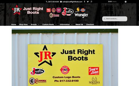 Screenshot of About Page justrightboots.com - About Us | Just Right Boots - captured Sept. 20, 2018