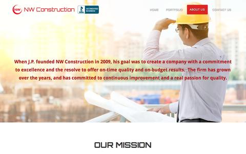 Screenshot of About Page nwcchicago.com - About Us | NW Construction - captured Dec. 1, 2016