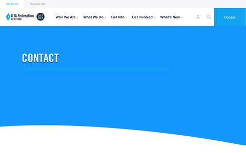 Screenshot of Contact Page ujafedny.org - Contact Us » UJA-Federation of New York - captured July 1, 2017
