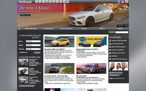 Screenshot of Home Page herbrand.de - Mercedes-Benz Herbrand GmbH - captured Oct. 17, 2018