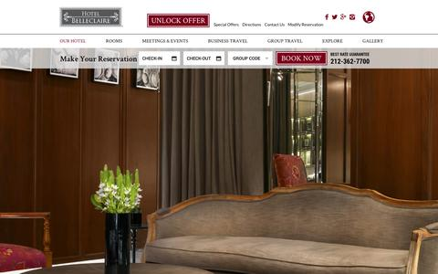 Screenshot of Testimonials Page hotelbelleclaire.com - Manhattan Hotel Reviews | NYC Hotel Reviews | Hotel Belleclaire - captured July 22, 2018