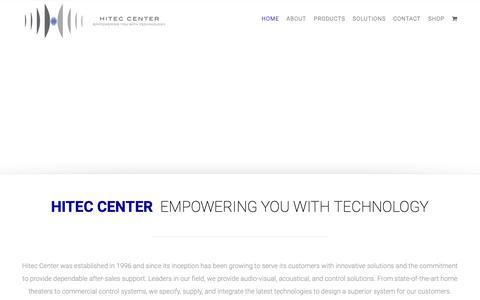 Screenshot of Home Page hitecoman.com - Hitec Center – Empowering You With Technology - captured Sept. 28, 2018
