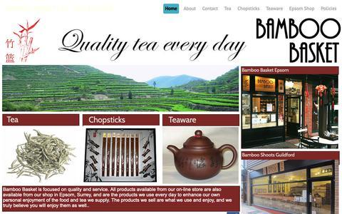 Screenshot of Home Page bamboo-basket.co.uk - Bamboo Basket Ltd. - captured Nov. 28, 2018
