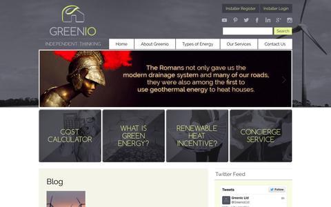 Screenshot of Blog greenio.co.uk - Blog | Greenio - captured Oct. 3, 2014