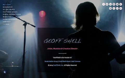 Screenshot of Home Page geoffshell.com - Geoff Shell - captured Oct. 2, 2014