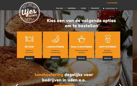 Screenshot of Home Page ujeseethuis.nl - Ujes Eethuis - Bedrijfscatering - Catering en Partycatering - captured Oct. 4, 2017