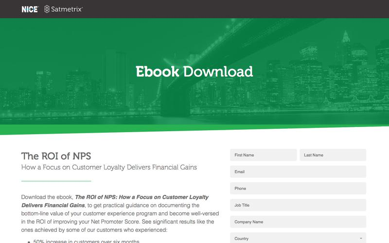 Satmetrix eBook: The ROI of NPS
