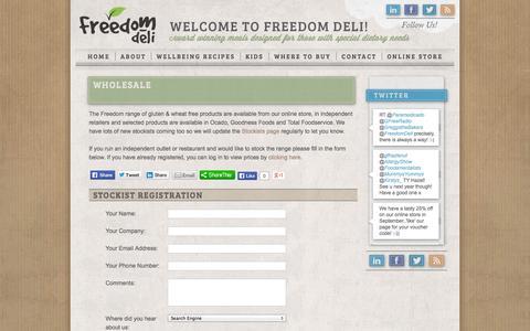 Screenshot of Products Page freedomdeli.co.uk - Wholesale | Freedom Deli - captured Oct. 6, 2014